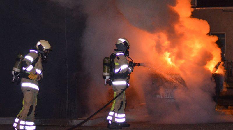 Brand naast vuurwerkopslag Woerden